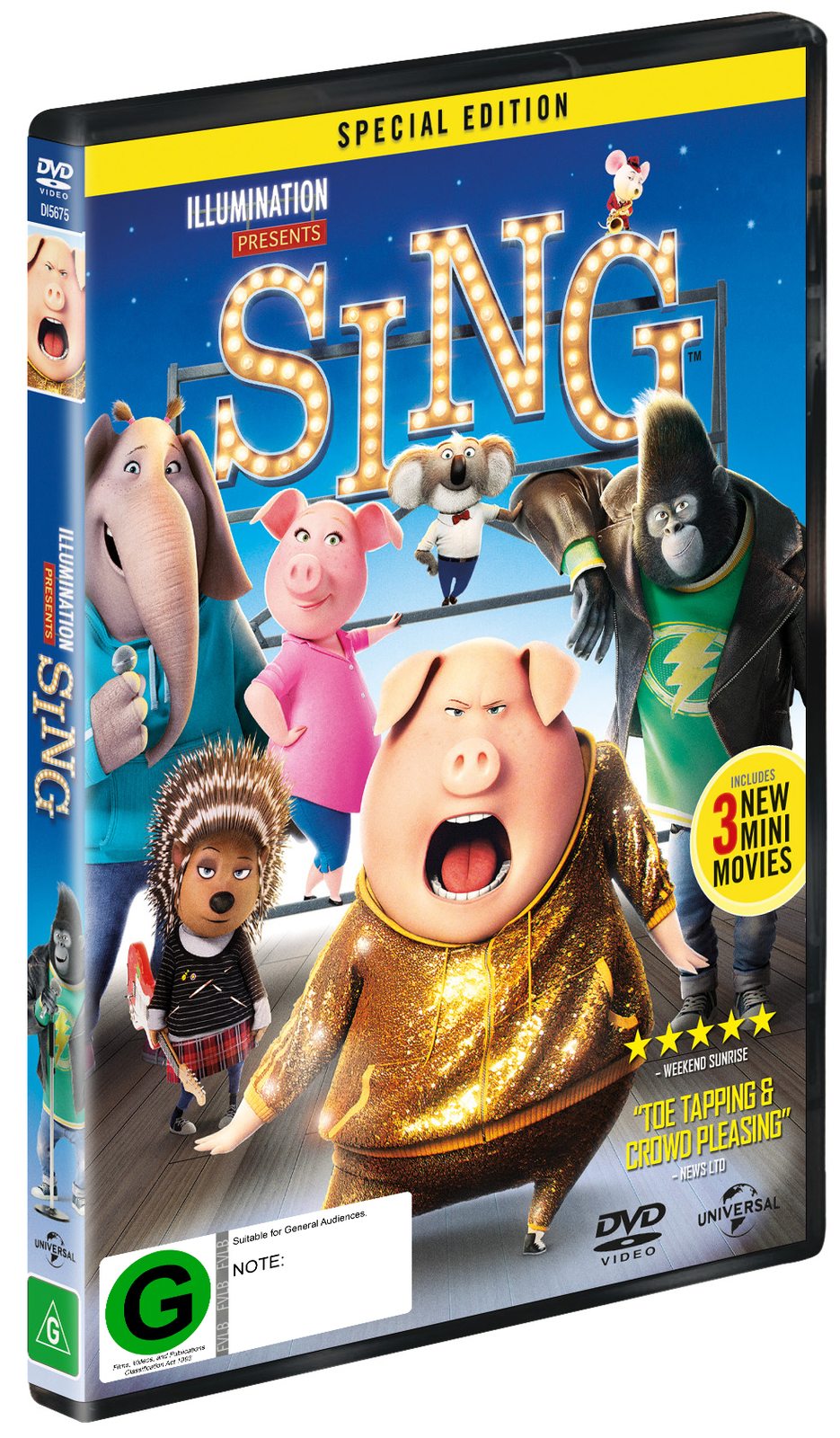 Sing on DVD image