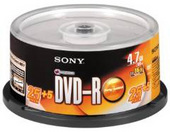 Sony 30DMR47S3 DVD-R Disk - 4.7GB 16x (25 + 5  Promotional Spindle pack)