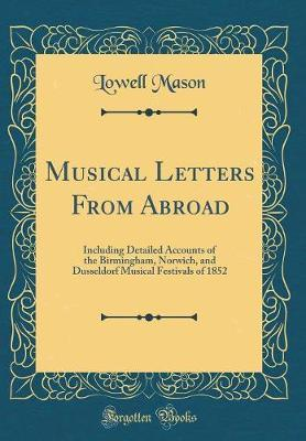 Musical Letters from Abroad by Lowell Mason image