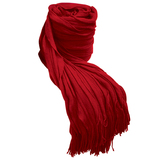 Bambury Cambridge Ruffle Throw Rug (Chili)