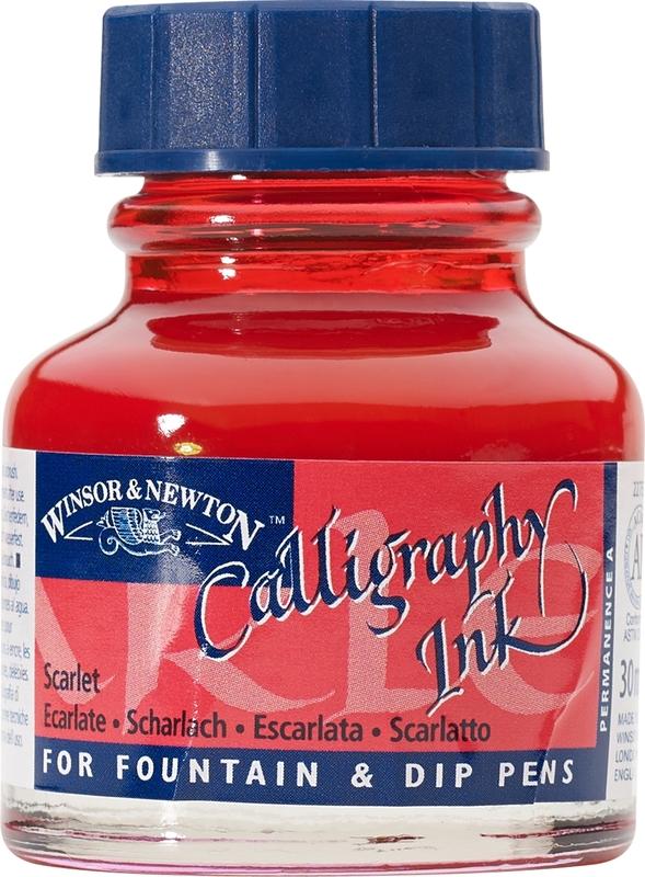 Winsor & Newton: Calligraphy Ink - Scarlet 601 (30ml)
