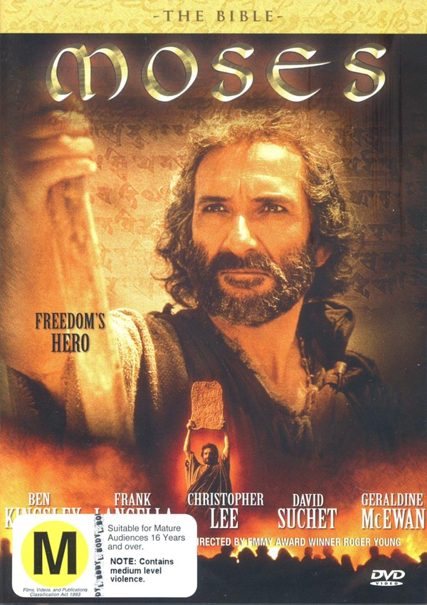 The Bible: Moses on DVD image