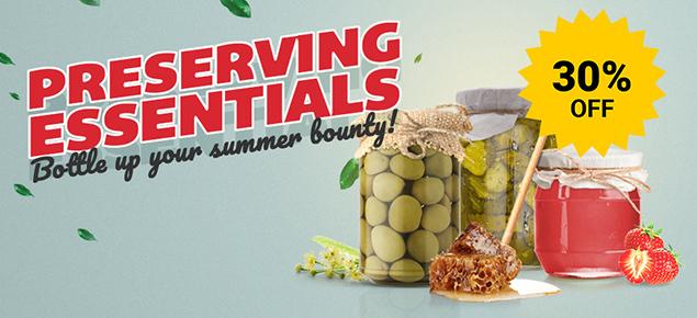 30% off Preserving Essentials!