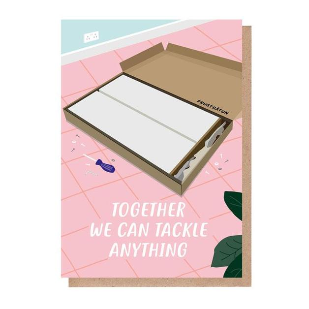 Grid: Together We Can Tackle Anything Anniversary Love Card