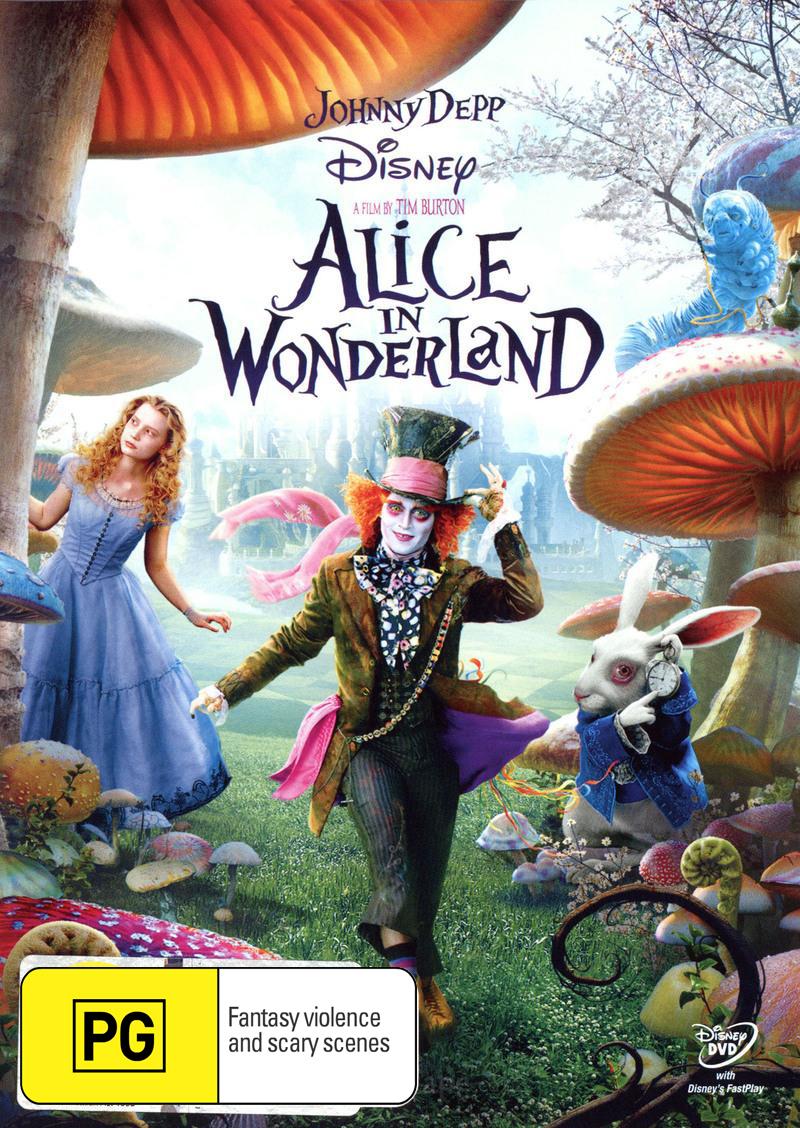 Alice in Wonderland on DVD image