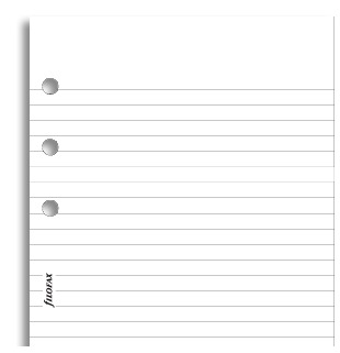 Filofax - Personal Lined Notepad - White (40 Sheets) image
