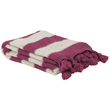 Bambury Madison Throw Rug (Berry)