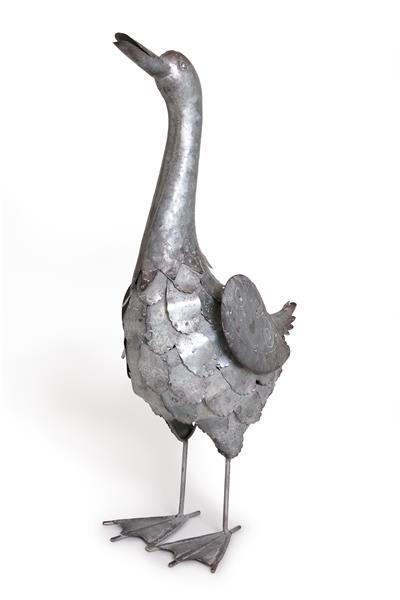 Free Range Duck - Silver Metal (28X56cm)