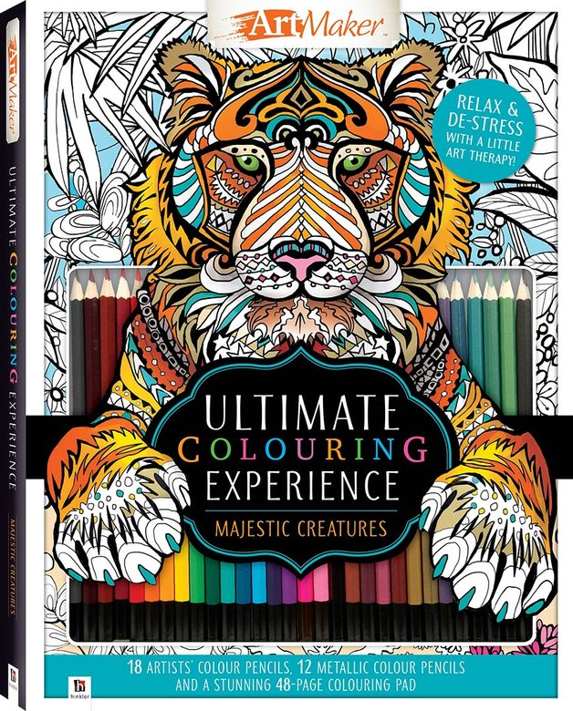 Art Maker: Ultimate Colouring Experience Kit - Majestic Creatures