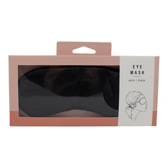 Simply Essential Satin Eye Mask - Black image
