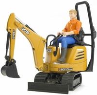 Bruder JCB Micro Excavator 8010 CTS with Figure