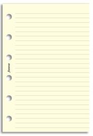 Filofax - Pocket Lined Notepaper - Cotton Cream (20 Sheets) image