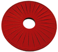 Teaology: Cast Iron Trivet - Ribbed Red/Black