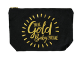 Canvas Cosmetic Bag (Gold Baby)