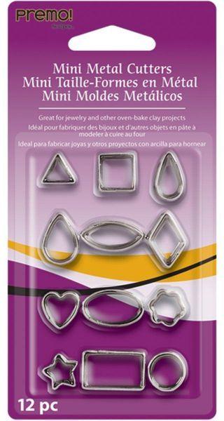 Sculpey Mini Metal Cutters (Pack 12)