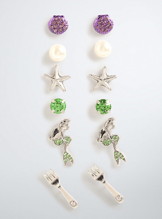 Neon Tuesday: The Little Mermaid - 6 Earring Set