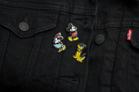 Mickey and Minnie Mouse Enamel Pin Badges