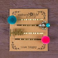 Natural Life: Hair Pin - Hello