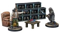 The Walking Dead: The Governor's Trophy Room Collector's Resin Set