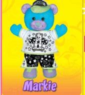 Doodle Bear Velvet Art - Markie