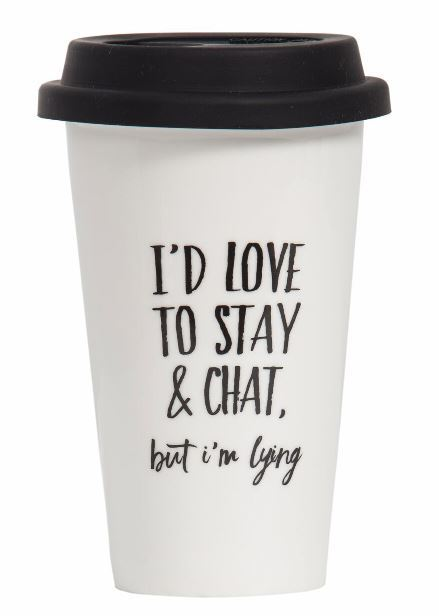 General Eclectic Takeaway Cup - Love To Stay & Chat image