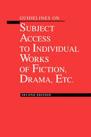 Guidelines on Subject Access to Individual Works of Fiction by American Library Association