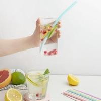Ape Basics: Reusable Silicone Drinking Straws (6 Pack) image