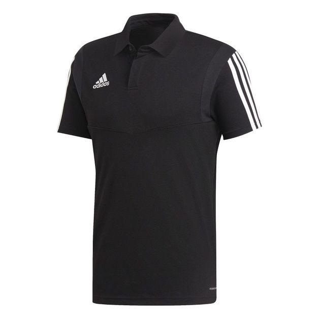 Adidas: Tiro 19 Cotton Polo - Black/White (Medium)