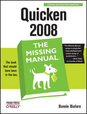 Quicken 2008 the Missing Manual by Bonnie Biafore image