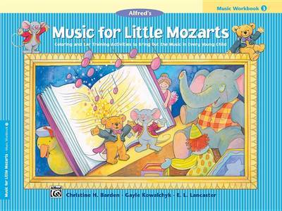 Music for Little Mozarts Music Workbook, Bk 3 by Christine H Barden image