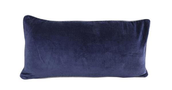 Raine & Humble Cushion Breakfast Velvet - Denim (30X60cm)