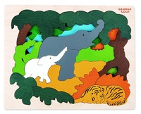 Hape: Wooden Layer Puzzle - Asian Animals