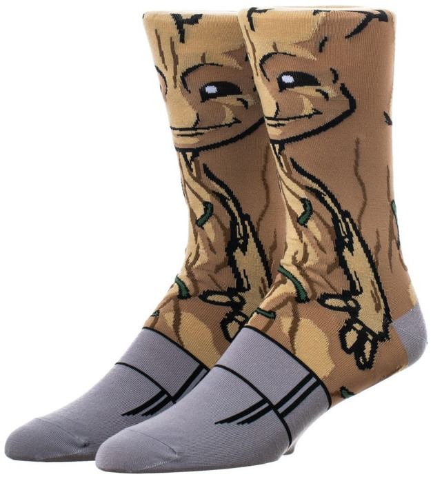Guardians Of The Galaxy: 360 Character Crew Socks - Baby Groot