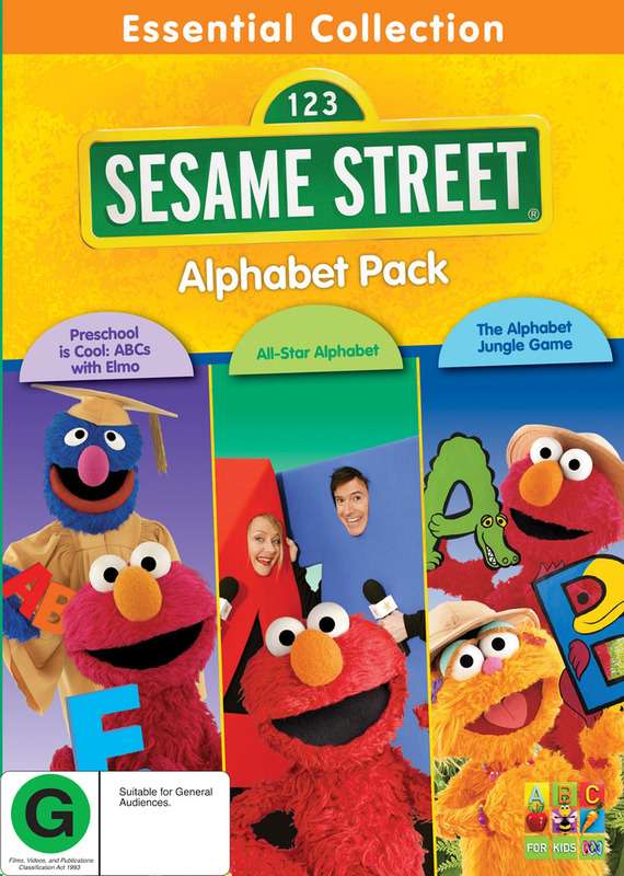 Sesame Street Alphabet 3 Pack Dvd Buy Now At Mighty Ape Nz