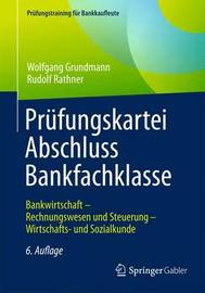 Prufungskartei Abschluss Bankfachklasse by Wolfgang Grundmann image