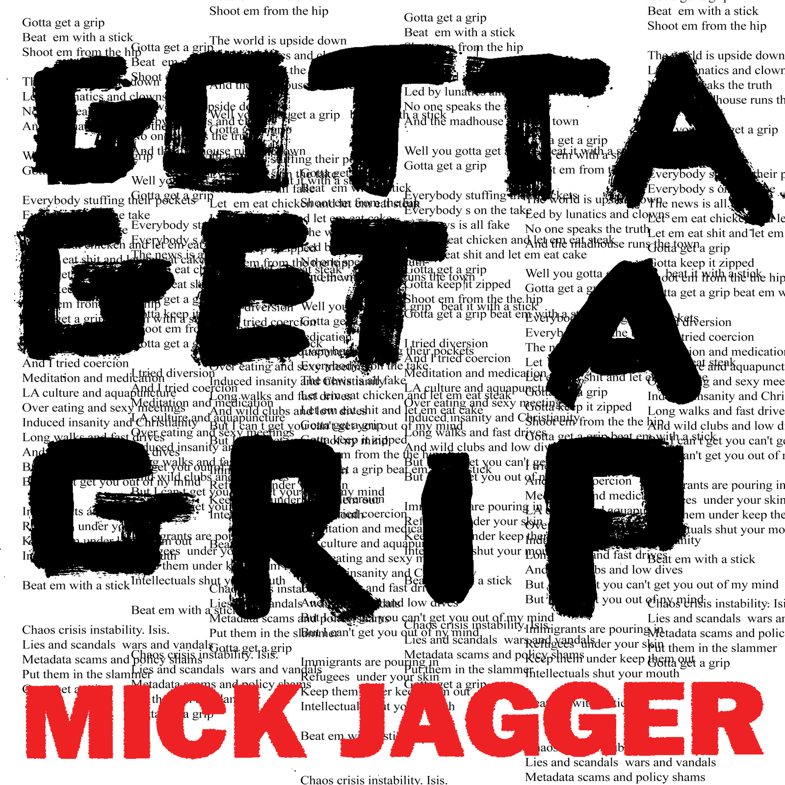 Gotta Get A Grip / England Lost by Mick Jagger image