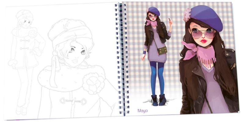 Miss Modeline Notebook - Winter Fashion image