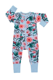 Bonds Zip Wondersuit Long Sleeve - Wild Wonder (3-6 Months)