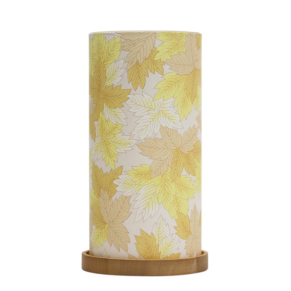 Big Glass Lantern Maple Leaves (Yellow) image