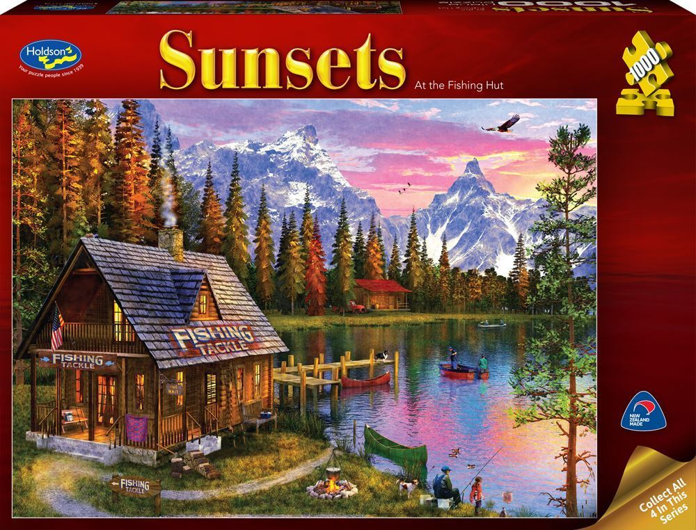 Holdson: 1000 Piece Puzzle - Sunsets (At the Fishing Hut) image