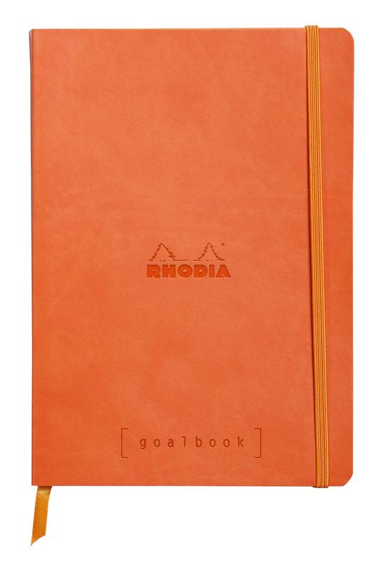Rhodiarama A5 Goalbook Dot Grid - Tangerine