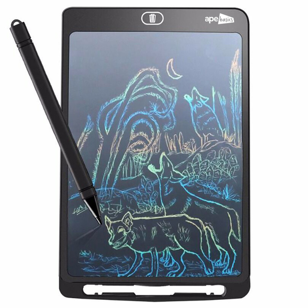 Ape Basics LED Kids Writing Tablet Black