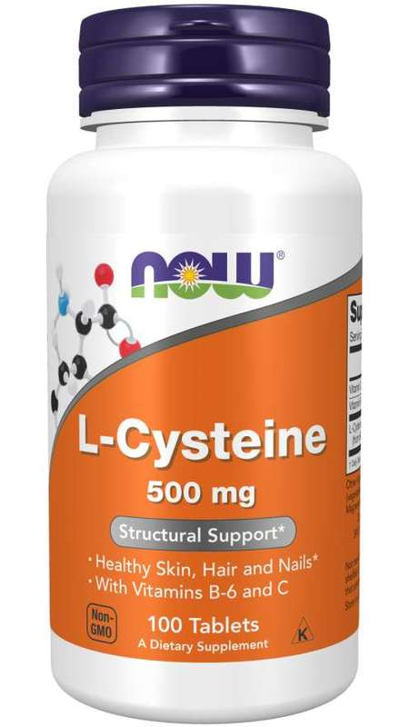 Now: L-Cysteine Tablets - 500mg