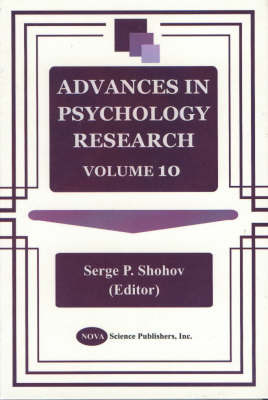 Advances in Psychology Research: Volume 10 image
