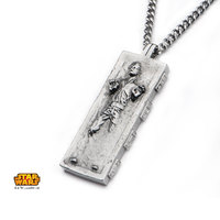 Star Wars Han Solo Carbonite Pendant Necklace image