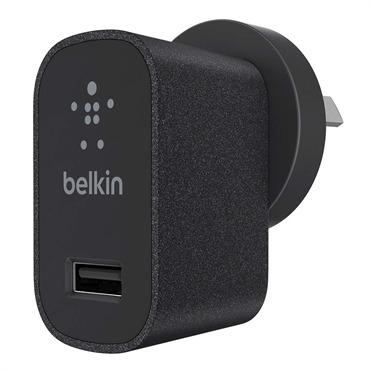 Belkin - 2.1A USB Metallic Wall Charger (Black) image