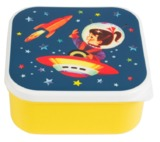 Retro Space Square Lunch Box - Yellow