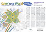 Colour Your World with Mandalas 2017 Desk Planner