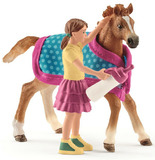 Schleich: Foal with blanket