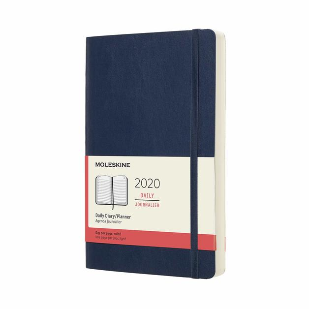 Moleskine: 2020 Diary Large Soft Cover 12 Month Daily - Sapphire Blue